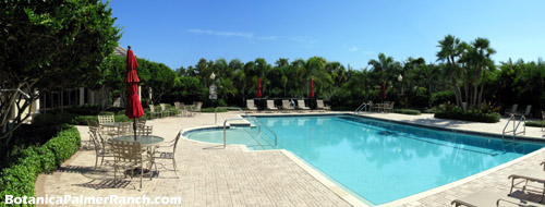 Relax and soak up the Sarasota sun at Botanica's resort-like pool area.